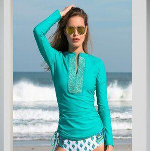 Cabana Life Classic Ruched Rashguard Top 50 + UV S
